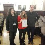 Иван Спасов и Биляна Борисова с доц. д-р Александър Кръстев